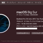 Hackintosh macOSX BigSur 11.2(20D5029f)Betaのインストール成功!